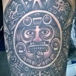 tattoo sun Aztecs - a cool photo of the finished tattoo on 14072016 3