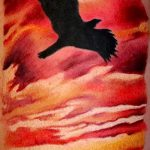 tattoo sunset - cool photo of the finished tattoo on 14072016 3