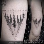 tattoo tree in the triangle - Photo example of a cool tattoo on 14072016 1