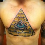 tattoo triangle with an eye - Photo example of a cool tattoo on 14072016 2