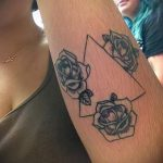 tattoo triangle with roses - Photo example of a cool tattoo on 14072016 1
