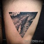 whale in the triangle tattoo - Photo example of a cool tattoo on 14072016 1