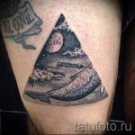 whale in the triangle tattoo - Photo example of a cool tattoo on 14072016 3
