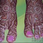 красивое мехенди на ноге - варианты временной тату хной от 05082016 1111 tatufoto.ru