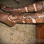 красивое мехенди на ноге - варианты временной тату хной от 05082016 7117 tatufoto.ru