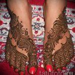 красивое мехенди на ноге - варианты временной тату хной от 05082016 8118 tatufoto.ru