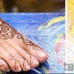 красивое мехенди на ноге - варианты временной тату хной от 05082016 9119 tatufoto.ru