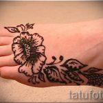 легкое мехенди на ноге - варианты временной тату хной от 05082016 2121 tatufoto.ru