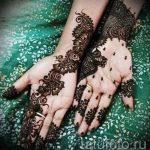 мехенди на двух руках - фото временной тату хной 1219 tatufoto.ru