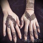 мехенди на двух руках - фото временной тату хной 2220 tatufoto.ru