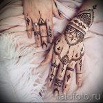 мехенди на двух руках - фото временной тату хной 3221 tatufoto.ru