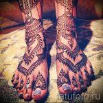 мехенди на ноге в виде браслета - варианты временной тату хной от 05082016 2138 tatufoto.ru