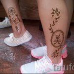 мехенди на ноге ловец снов - варианты временной тату хной от 05082016 10149 tatufoto.ru
