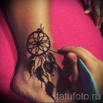 мехенди на ноге ловец снов - варианты временной тату хной от 05082016 2141 tatufoto.ru