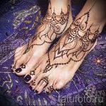 мехенди на ноге лотос - варианты временной тату хной от 05082016 1150 tatufoto.ru