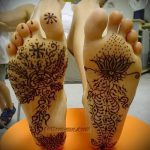мехенди на ноге лотос - варианты временной тату хной от 05082016 2151 tatufoto.ru