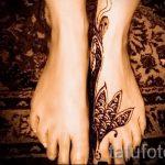 мехенди на ноге лотос - варианты временной тату хной от 05082016 3152 tatufoto.ru