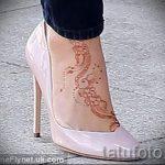 мехенди на ноге маленькие - варианты временной тату хной от 05082016 2154 tatufoto.ru