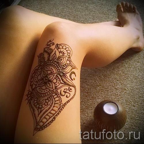 рисунки хной фото на ноге