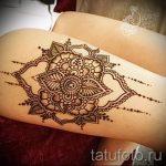 мехенди на ноге на бедре - варианты временной тату хной от 05082016 2157 tatufoto.ru