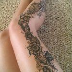 мехенди на ноге на бедре - варианты временной тату хной от 05082016 4159 tatufoto.ru