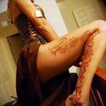 мехенди на ноге на бедре - варианты временной тату хной от 05082016 5160 tatufoto.ru
