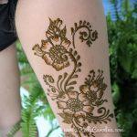 мехенди на ноге на ляжке - варианты временной тату хной от 05082016 2164 tatufoto.ru