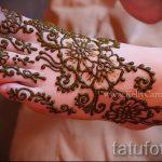 мехенди на ноге цветы - варианты временной тату хной от 05082016 11199 tatufoto.ru