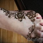 мехенди на ноге цветы - варианты временной тату хной от 05082016 12200 tatufoto.ru