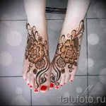 мехенди на ноге цветы - варианты временной тату хной от 05082016 13201 tatufoto.ru