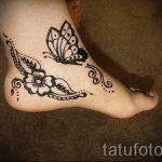 мехенди на ноге цветы - варианты временной тату хной от 05082016 15203 tatufoto.ru