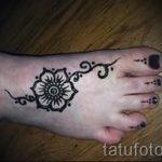 мехенди на ноге цветы - варианты временной тату хной от 05082016 2190 tatufoto.ru