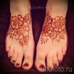 мехенди на ноге цветы - варианты временной тату хной от 05082016 5193 tatufoto.ru