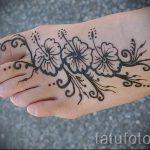 мехенди на ноге цветы - варианты временной тату хной от 05082016 6194 tatufoto.ru