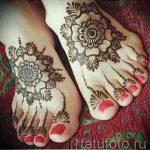 мехенди на ноге цветы - варианты временной тату хной от 05082016 7195 tatufoto.ru