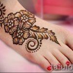 мехенди на ноге цветы - варианты временной тату хной от 05082016 8196 tatufoto.ru
