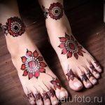мехенди на пальцах ног - варианты временной тату хной от 05082016 10227 tatufoto.ru