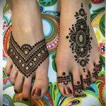 мехенди на пальцах ног - варианты временной тату хной от 05082016 5222 tatufoto.ru