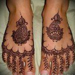 мехенди на пальцах ног - варианты временной тату хной от 05082016 7224 tatufoto.ru