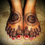 мехенди на пальцах ног - варианты временной тату хной от 05082016 8225 tatufoto.ru