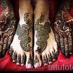 мехенди на пальцах ног - варианты временной тату хной от 05082016 9226 tatufoto.ru
