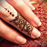 мехенди на пальцах рук - фото временной тату хной 10241 tatufoto.ru
