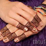 мехенди на пальцах рук - фото временной тату хной 1232 tatufoto.ru