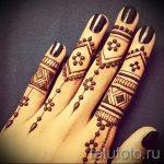 мехенди на пальцах рук - фото временной тату хной 2233 tatufoto.ru