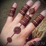 мехенди на пальцах рук - фото временной тату хной 3234 tatufoto.ru