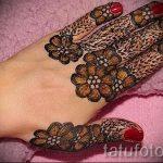 мехенди на пальцах рук - фото временной тату хной 4235 tatufoto.ru