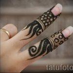 мехенди на пальцах рук - фото временной тату хной 5236 tatufoto.ru