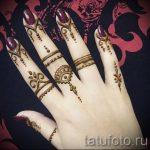 мехенди на пальцах рук - фото временной тату хной 6237 tatufoto.ru