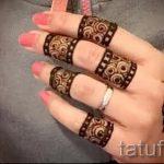 мехенди на пальцах рук - фото временной тату хной 7238 tatufoto.ru