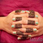 мехенди на пальцах рук - фото временной тату хной 8239 tatufoto.ru
